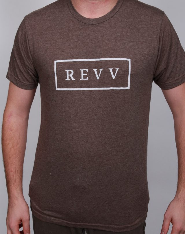 Revv Traditional Badge Tee Heather Brown
