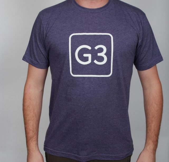G3 Logo Tee Heather Purple